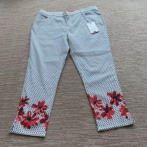 NWT Marina Rinaldi printed floral pants size 14